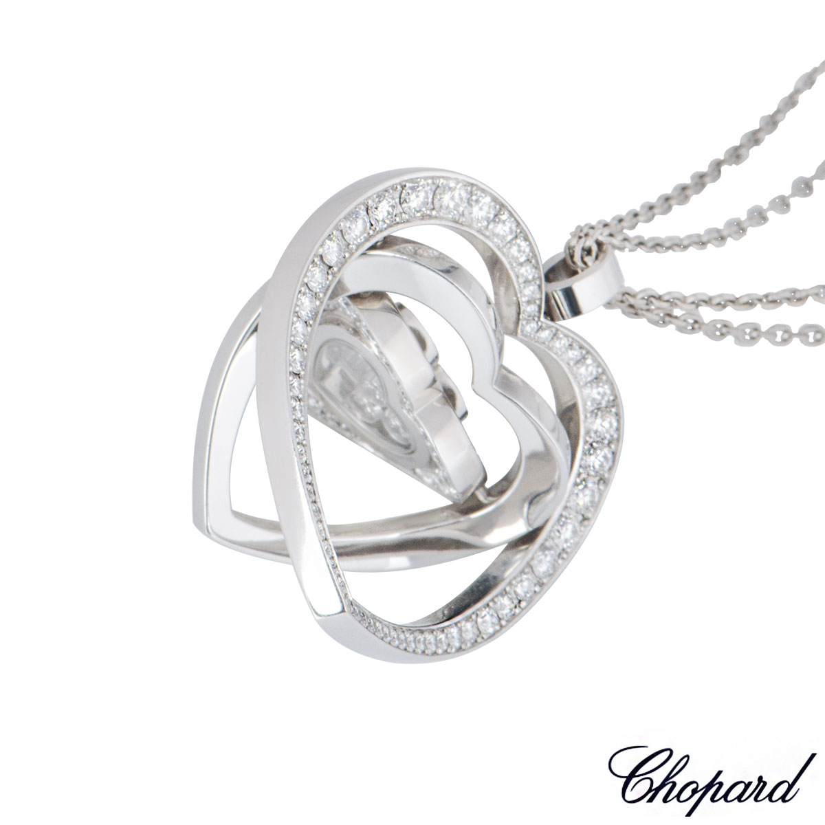 Chopard White Gold Happy Spirit Diamond Necklace